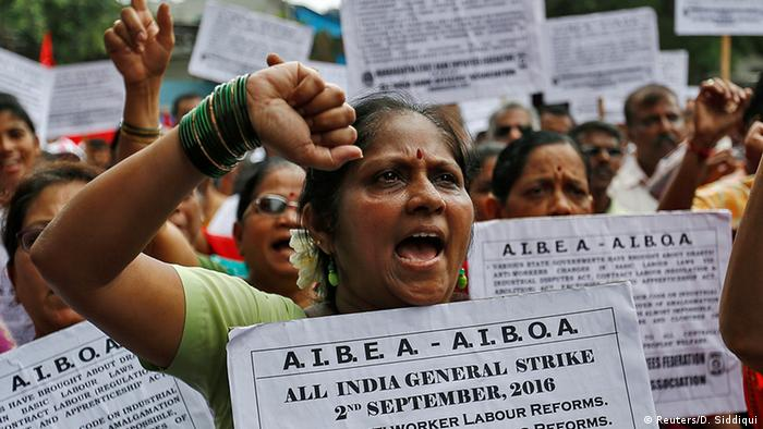 Millions of workers strike for better wages in India