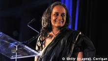 NEW YORK, NY - NOVEMBER 08: Author Arundhati Roy speaks at the 3rd Annual Norman Mailer Center Gala at the Mandarin Oriental Hotel on November 8, 2011 in New York City. (Photo by Joe Corrigan/Getty Images)