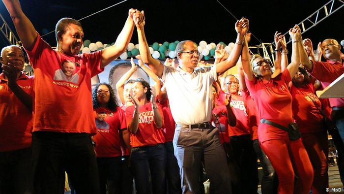 Kap Verde Mindelo - Wahlkampf in Kap Verde (MpD)