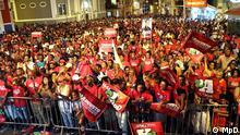 Kap Verde Mindelo - Wahlkampf in Kap Verde