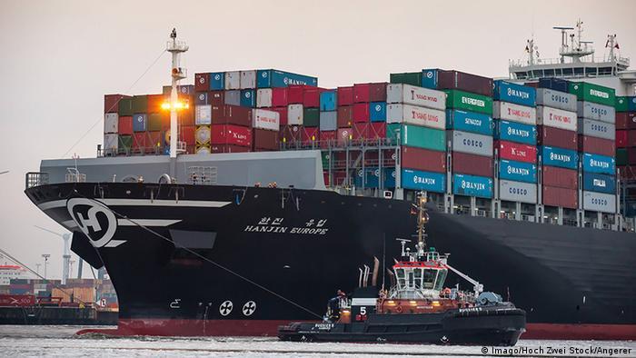 Hamburg Containerschiff Hanjin Europe