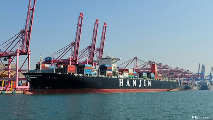 Koreanisches Containerschiff Hanjin Europe