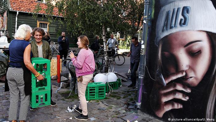 Dänemark Kopenhagen Christiania am Tag nach Schießerei