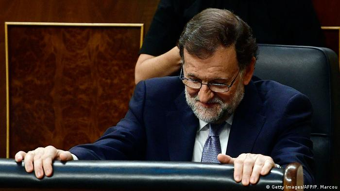 Spanien Mariano Rajoy im Spanischen Kongress in Las Cortes (Getty Images/AFP/P. Marcou)