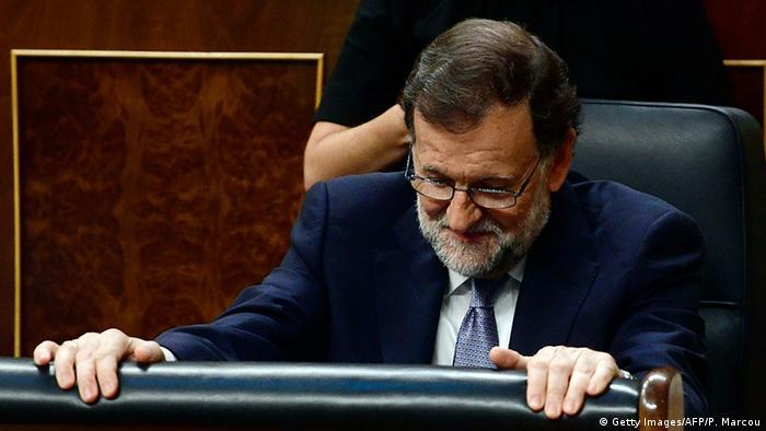 Mariano Rajoy im Spanischen Kongress (Foto: Getty Images/AFP/P. Marcou)