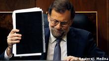 Spanien Madrid Mariano Rajoy Misstrauensvotum Parlament