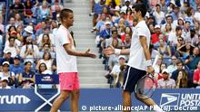 US Open Tennis Mikhail Youzhny vs Novak Djokovi