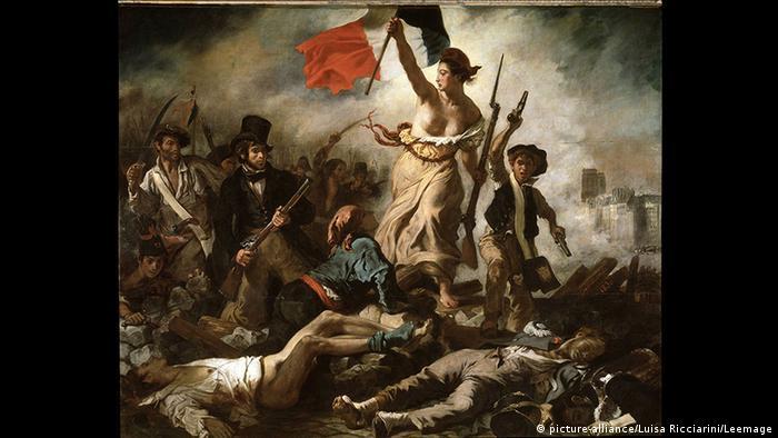 Gemälde Delacroix Die Freiheit führt das Volk