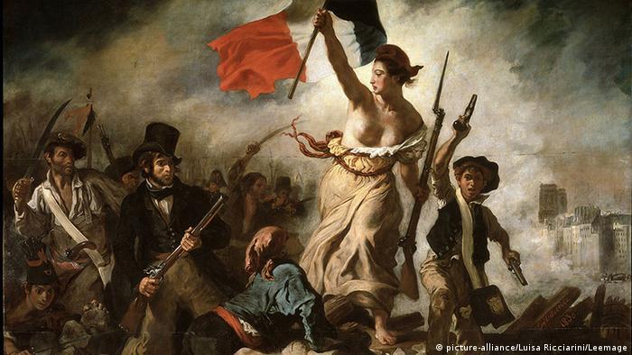Gemälde Delacroix Die Freiheit führt das Volk(c) picture-alliance/Luisa Ricciarini/Leemage