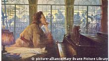 A picture of a dreaming Frederic Chopin (picture-alliance/Mary Evans Picture Library)