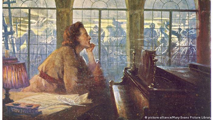 Frederic Chopin am Klavier Gemälde (picture-alliance/Mary Evans Picture Library)