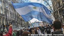 Argentinien Proteste gegen Politik von Präsident Mauricio Macri