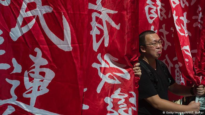 China Hongkong Wahl Unabhängigeit Anhänger (Getty Images/AFP/T. Bahar)