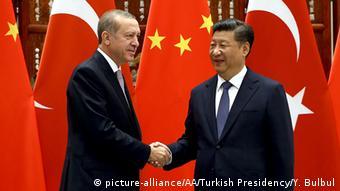 China G20-Gipfel Xi Jinping mit Recep Tayyip Erdogan (picture-alliance/AA/Turkish Presidency/Y. Bulbul)
