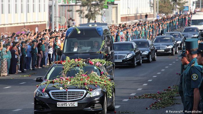 Траурна процесія в Ташкенті