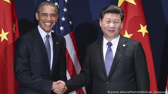 Obama e Xi Jiping antes da cúpula do G20 na cidade de Hangzhou: questão climática como principal tema