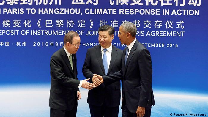 China Hangzhou G20 Klimagipfel - Barack Obama, Xi Jingping, Ban Ki-Moon