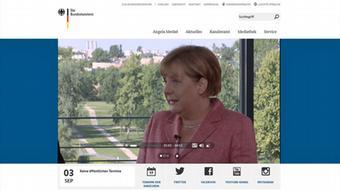 Deutschland Video-Podcast Bundeskanzlerin Angela Merkel