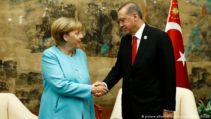 China G20 Gipfel in Hangzhou - Merkel & Erdogan