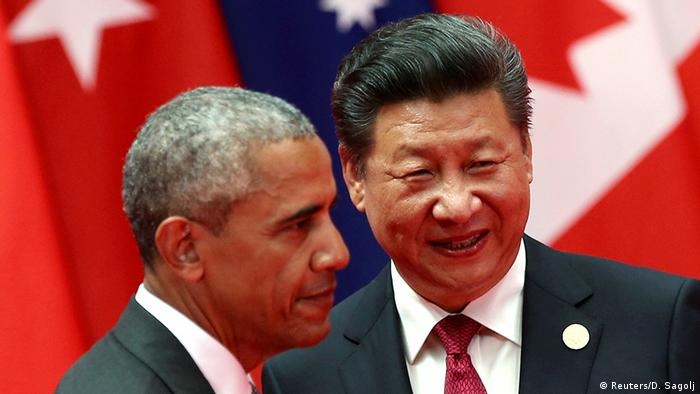 China G20 Gipfel in Hangzhou - Obama & Jinping (Reuters/D. Sagolj)