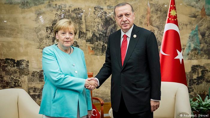 China G20 Gipfel in Hangzhou - Merkel & Erdogan