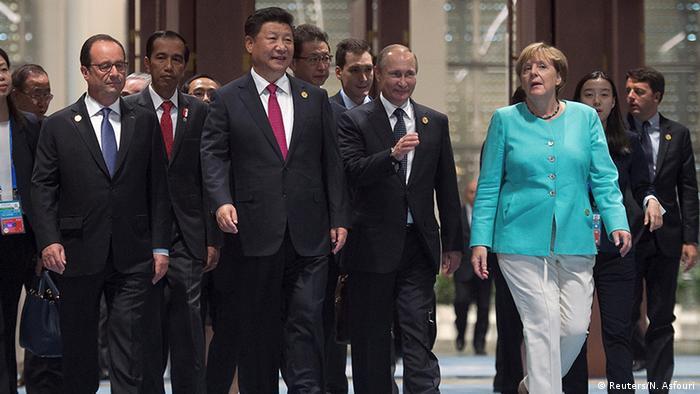 China G20 Gipfel in Hangzhou - Hollande & Jinping & Putin & Merkel