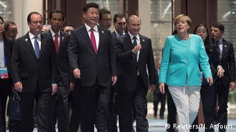 China G20 Gipfel in Hangzhou - Hollande & Jinping & Putin & Merkel
