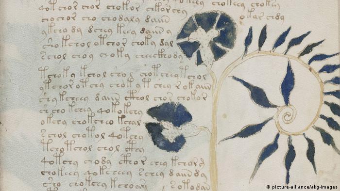Página do manuscrito Voynich