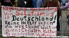 Deutschland Bremen Protest gegen Salafismus