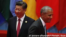 China G20 Gipfel in Hangzhou Obama und Jinping