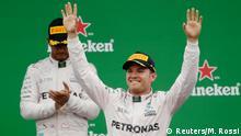 Italien Monza - Formel 1 Nico Rosberg auf dem Siegerpodest