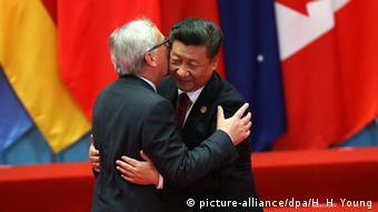 China G20 Gipfel in Hangzhou Juncker und Jinping (picture-alliance/dpa/H. H. Young)