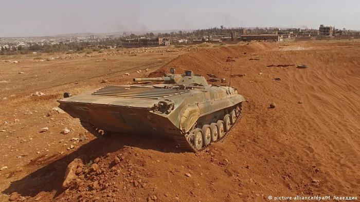 A tank south of Aleppo