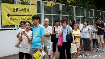 China Hongkong Parlamentswahlen Wahlbeteiligung