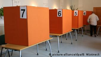 Voting booths in Mecklenburg-Western Pomerania