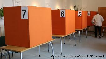 Voting booths in Mecklenburg-Western Pomerania