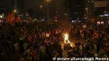 Brasilien Proteste pro Dilma Rousseff in Sao Paulo