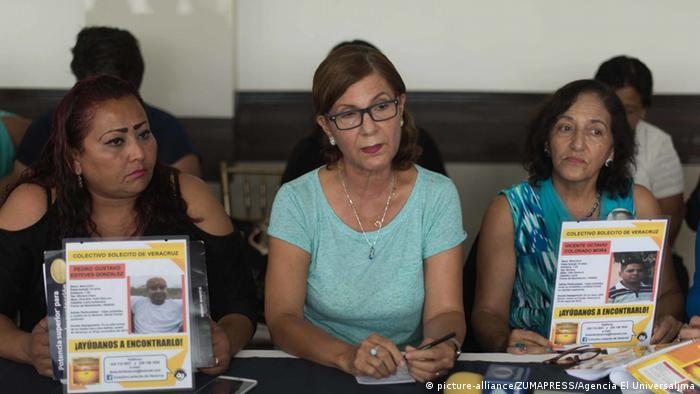 El Colectivo Solecito está conformado por unas 90 personas que buscan a familiares desaparecidos, algunos desde hace seis años, en el estado de Veracruz.