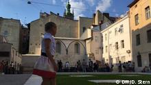 Ukraine Synagogen Gedenkstätte Installation Einweihung in Liwiw