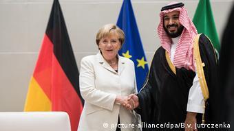 China G20 Gipfel in Hangzhou - Merkel & bin Abdelasis al-Saud, Saudi-Arabien