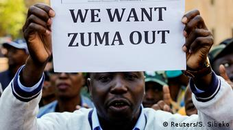 Südafrika Proteste vor ANC Zentrale in Johannesburg