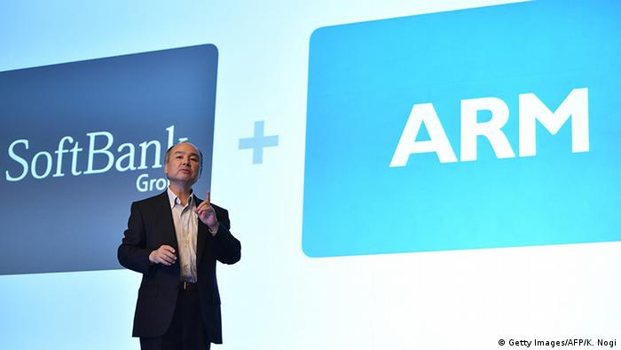 Japan Tokyo Softbank Group Corp plant Übernahme ARM Limited in Cambridge (Getty Images/AFP/K. Nogi)