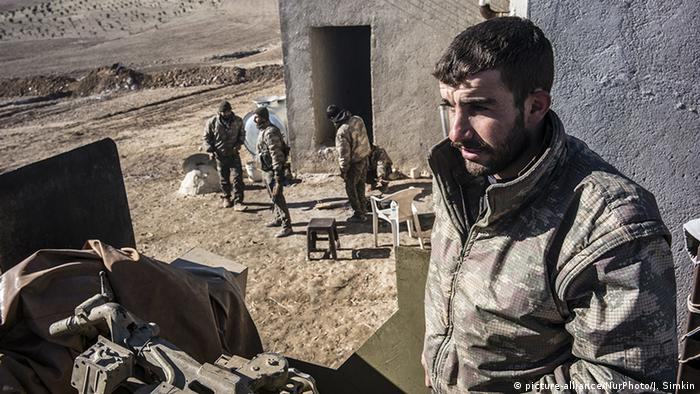 A Kurdish rebel in northern Syria