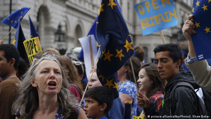 Over the weekend, pro-EU protesters demanded that the government listen to their voices. Forty-eight percent of voters opted to stay in the bloc.