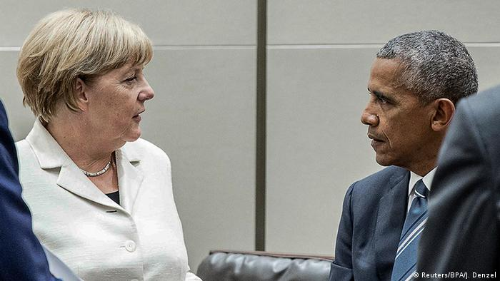 China G20 Gipfel in Hangzhou - Angela Merkel und Obama (Reuters/BPA/J. Denzel)