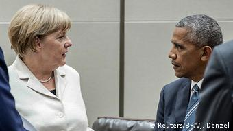 China G20 Gipfel in Hangzhou - Angela Merkel und Obama