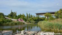 18.08.2016 ++++ Gesprengte Brücke bei Slowjansk, Ukraine gewünschter Beschreibung: Im Krieg 2014 gesprengte Brücke bei Slowjansk, Ukraine Copyright: DW/R. Goncharenko