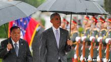 Laos ASEAN Gipfel Bounnhang Vorachith empfängt Barack Obama