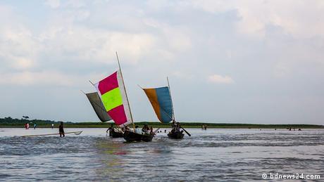Bangladesch Dhaka Touristen Moinot ghat