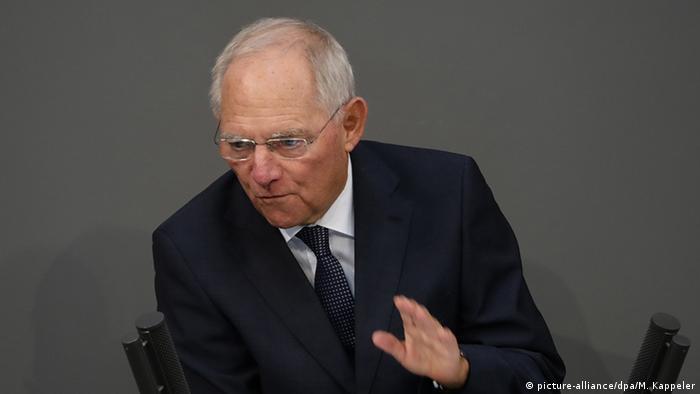 Deutschland Bundestag Wolfgang Schäuble